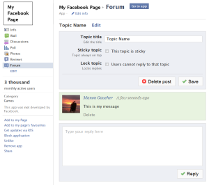 Forum for pages | Facebook